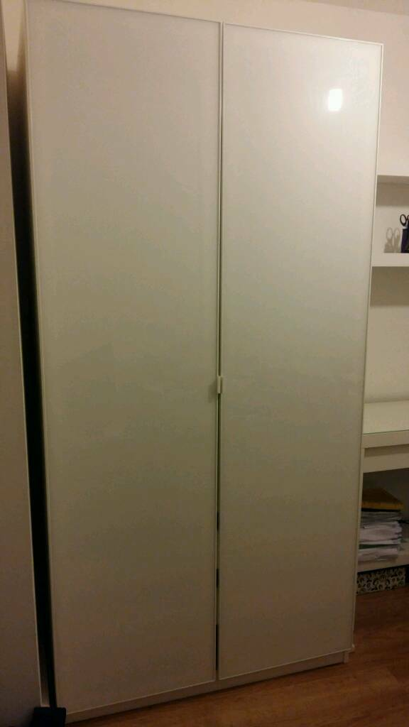 White double door wardrobe