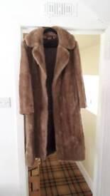 Tissavel France faux fur coat