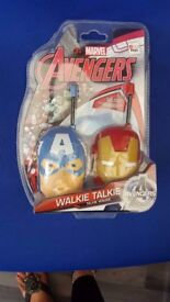 Avengers Marvel walkie talkies children's toy unopened christmas gift