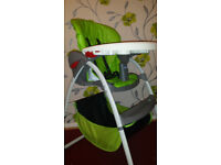Graco lime high chair in excellent condition