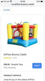 Child's bouncy castle new and boxed