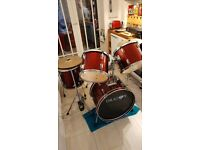 Dragon Red Drum kit for sale.