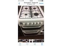 White Hotpoint 50cm gas cooker grill & oven good condition with guarantee