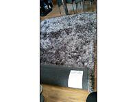 Beautiful shabby chic grey rug