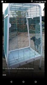 Very large parrot cage.