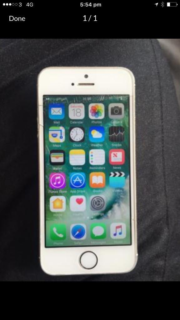 Apple iPhone 5s 16gb on giffgaffin Birmingham City Centre, West MidlandsGumtree - Apple iPhone 5s 16gb on o2/giffgaff/ Tesco Come with usb cable Some mark on the phone and little cracked Fingerprint sensor error Thanks