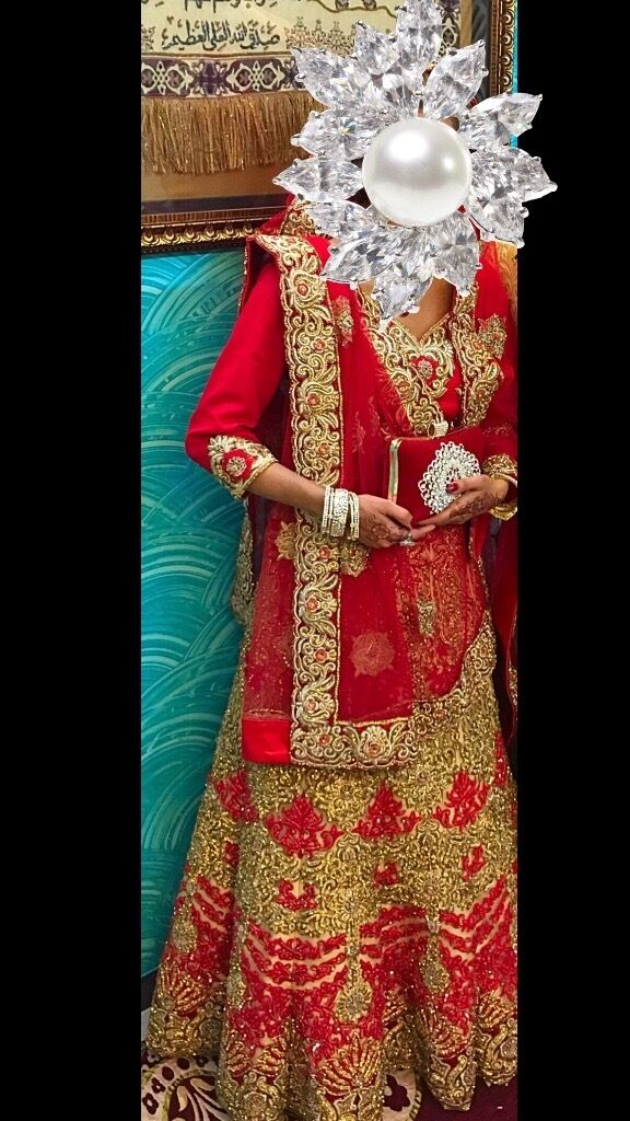 Wedding lengha at very cheap cost200in Camden, LondonGumtree - Size small lengha red and golden cream with heavy stone work and this dress is very heavy based looks amazing. Only worn once and looking for quick sale