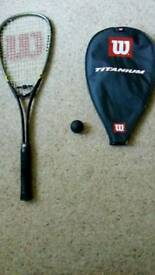 Wilson Titanium squash racquet Excellent condition