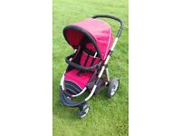 Pushchair, car seat and car seat base combo by Maxi Cosi