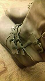 Women's Buckle Boots Size 6