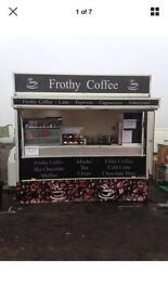 Mobile coffee trailer, twin axle