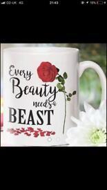 Beauty and the Beast mug - Personalised
