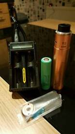 Mech mod V2 rig American Made. (vaping e cig) with new battery