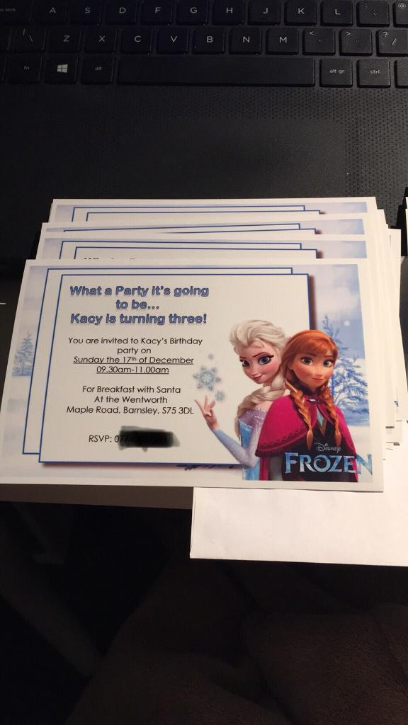 Children's personalised party invitations