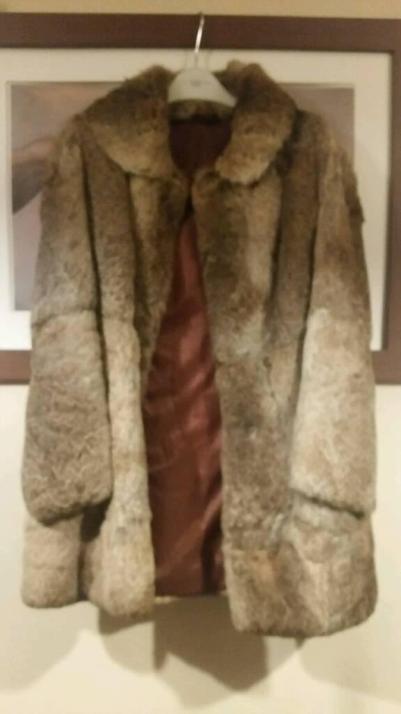 Beautiful condition 60s real rabbit fur coat