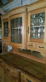 Old vintage pine dresser