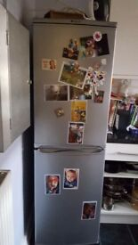 Fridge/Freezer in very good condition in Silver selling as moved and it is to big for new kitchen