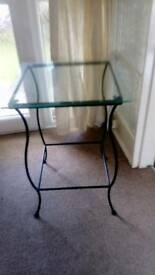 Glass table. Small