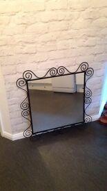 Wrought Iron mirror