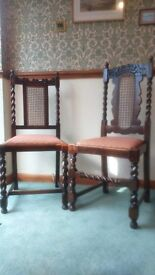 4 Regency Style Dining Room Chairs