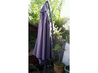 Large grey garden cantilever parasol