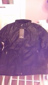 Brand New Mens Leather Jacket, 36 - 38 inches