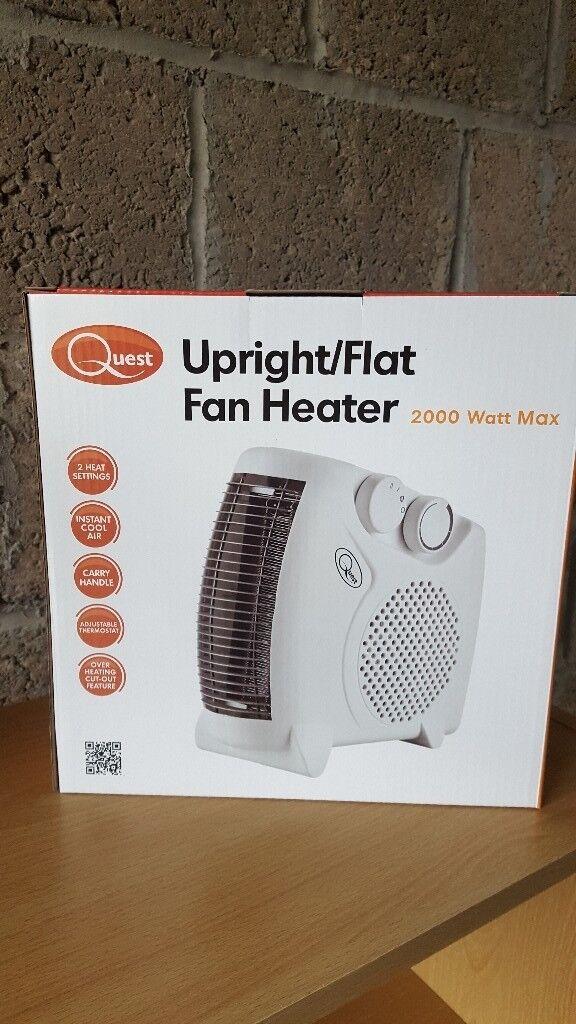 Quest Upright/Flat Fan Heater (2000 Watt Max)