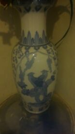 A Tall Beautiful Chinese Porcelain ceramic vase approx three foot tall