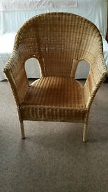 Large IKEA natural wicker/rattan sunroom/conservatory/lounge chair, well made good condition