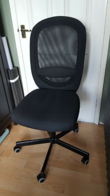 FLINTAN Vissle black, Office chair IKEA