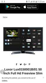 Faulty!! Luxor50 Inch Full Hd Freeview Slim Led Smart Tv