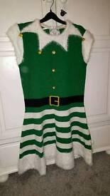 Ladies elf woollen dress
