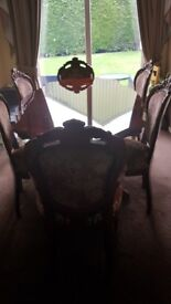 Italian style dinning table & 6 chairs