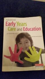 Advanced early years care and education book