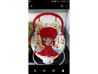 Musical/vibrating bouncy chair