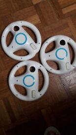 Wii wheels and skylander base with figurines