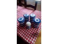 Cornish Ware storage jars and flour shaker