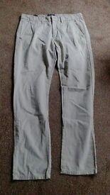 Cream Mens/boys canvas trousers
