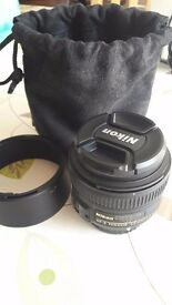 Nikon 50mm f/1.8 AF-S G Lens mint condition great for portraits and low light