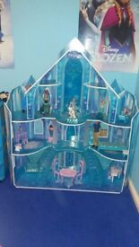 Frozen mansion dolls house excellent condition hardly played with