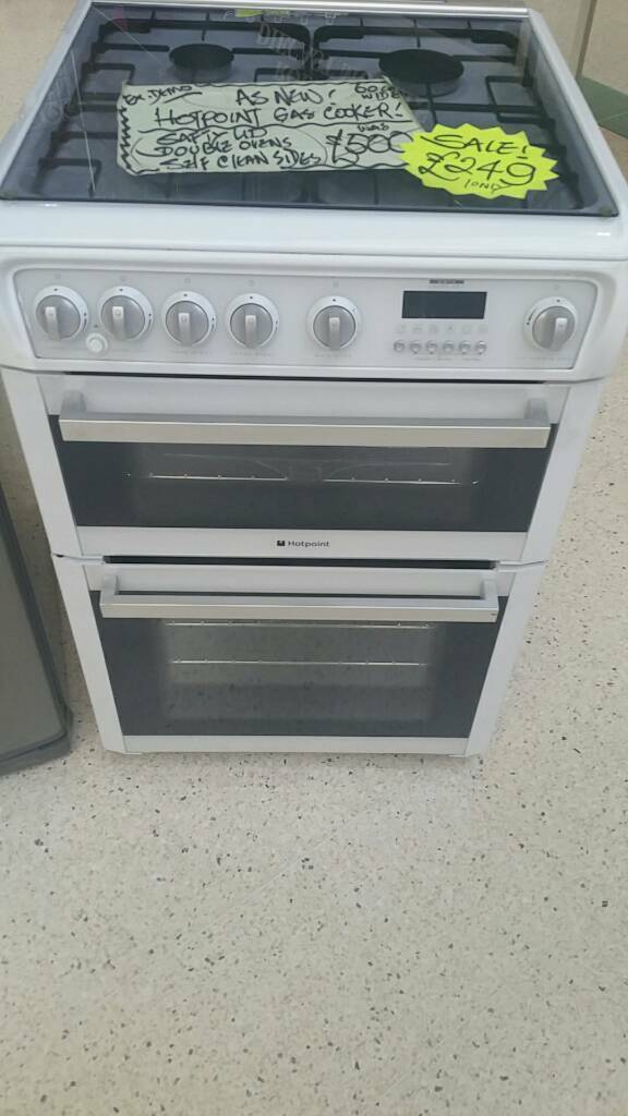 Hotpoint gas cooker with as new condition