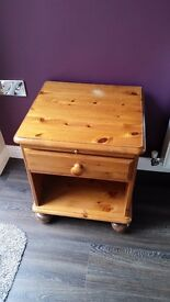 One pine bedside table