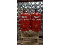 Pair of (as new) 11KG GASIT refillable LPG bottles.