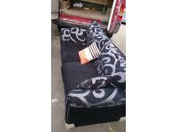 BLACK 3 AND 2 SEATER SOFA