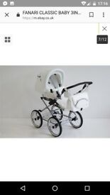 White pram carry and seatunit