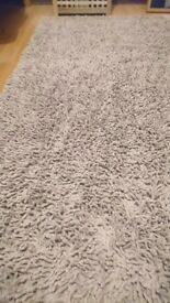 PLAIN-COLOURED CHENILLE RUG 150 x 200 cm