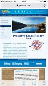 4 night break to pontins Prestatyn sand