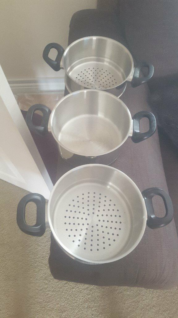 Set of 3 Steam Pans - Brand New