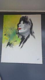 Michael Jackson Large Oil On Canvas By Artist Trust
