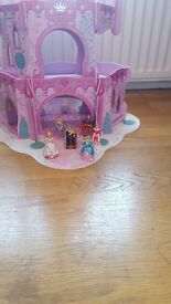 Wooden Princess Castle with figures from ELC